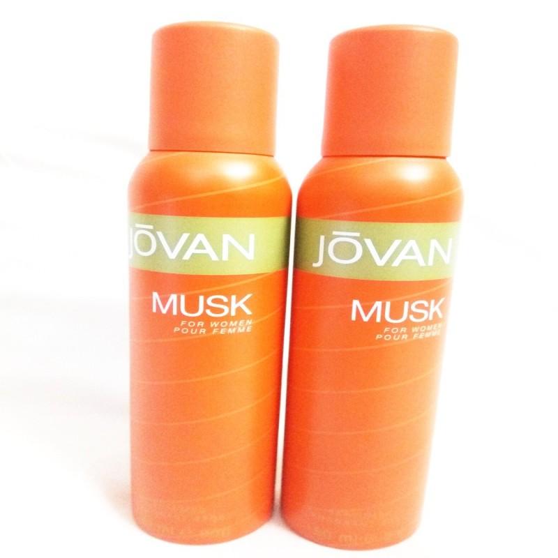 Jovan MUSK Body Spray - For Women(300 ml, Pack of 2)
