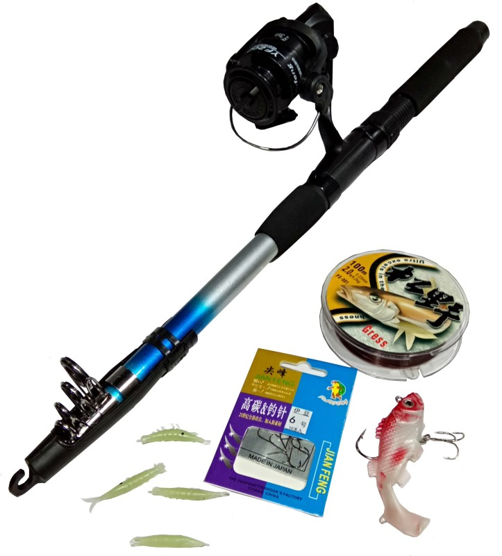 Guru Kripa FI FS 1- YF 200 Blue Fishing Rod(228 cm, 0.178, Blue)