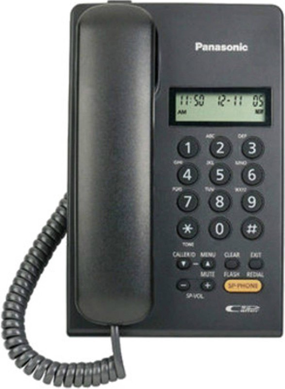 Panasonic KX-TSC62SXB Corded Landline Phone(Black)