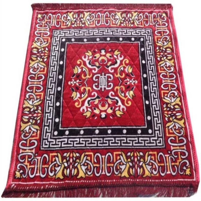HOTDEALZZ Polyester Prayer Mat(Maroon, Large)