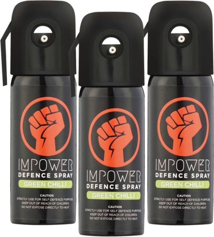 IMPOWER Self Defence Green Chilli Spray Pepper Stream Spray