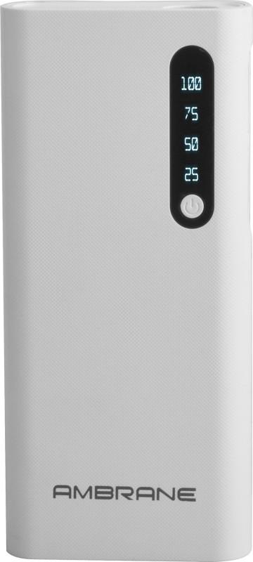 Ambrane 8000 mAh Power Bank (P-888)(White, Lithium-ion)