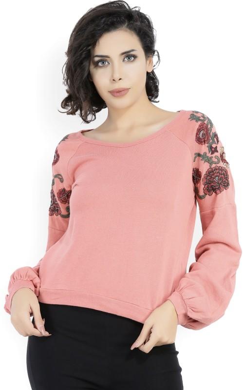 Vero Moda Full Sleeve Self Design Womens Sweatshirt