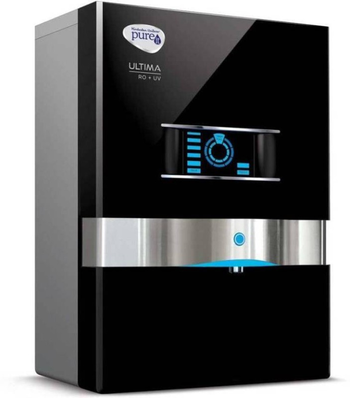 Pureit Mineral RO+UV Ultima 10 L RO + UV Water Purifier(Black)