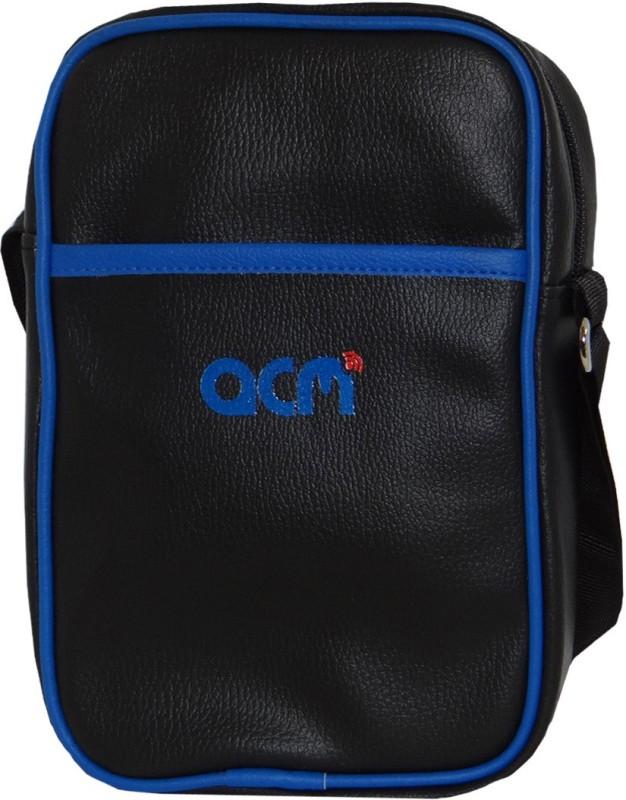 ACM Men & Women Black Messenger Bag