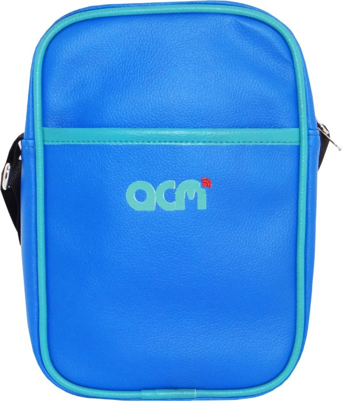 ACM Men & Women Blue Messenger Bag