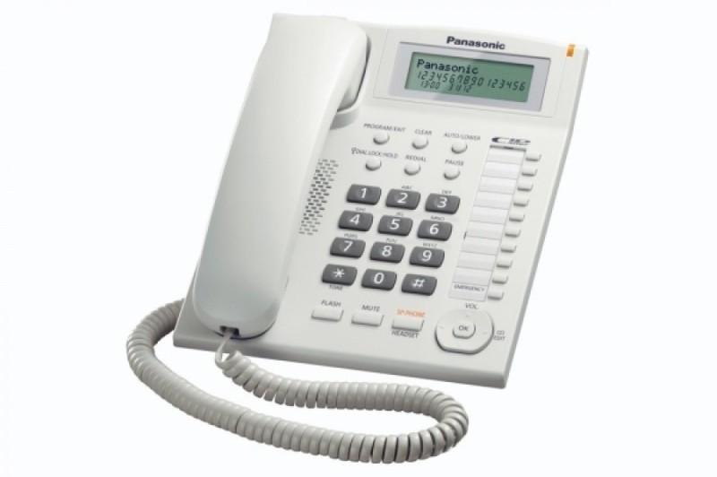 Panasonic KX-TS880MX Corded Landline Phone(White)