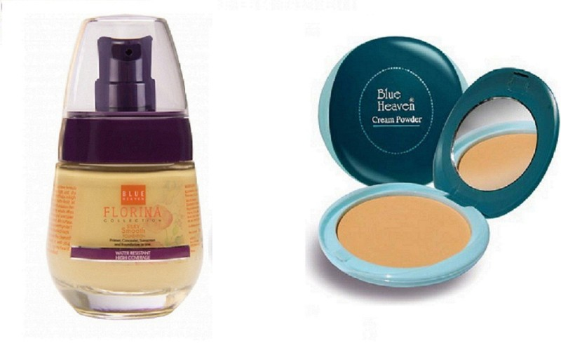 Blue Heaven florina foundation with cream to powder compact(Pack of 2)