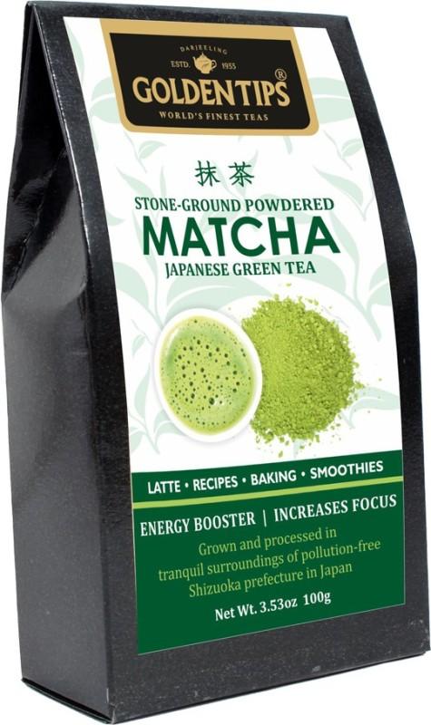 Golden Tips Authentic Japanese Matcha Green Tea Powder, 100g/3.53oz - High in Antioxidants & Energy Matcha Tea(100 g, Pouch)