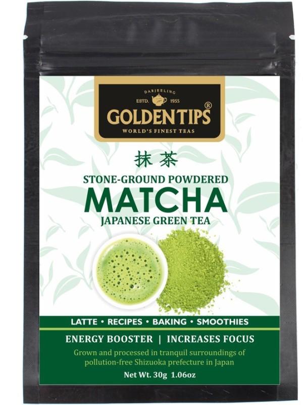 Golden Tips Authentic Japanese Matcha Green Tea Powder, 30 gm/1.05 Oz - High in Antioxidants & Energy Matcha Tea(30 g, Pouch)