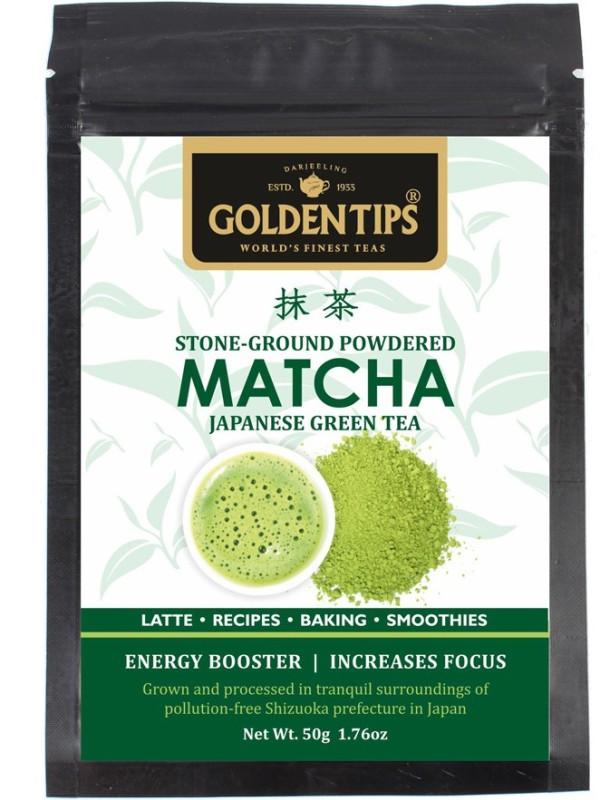 Golden Tips Authentic Japanese Matcha Green Tea Powder, 50g/1.76oz - High in Antioxidants & Energy Matcha Tea(50 g, Pouch)
