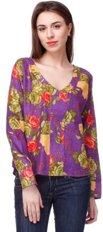 Lavennder Casual Full Sleeve Solid Women's Purple Top