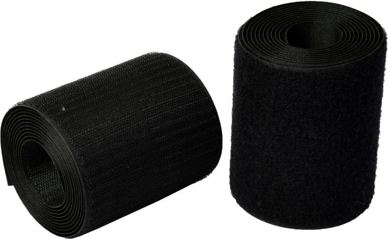 Vardhman Industrial Quality Hook & Loop Fastner Tape ,100 mm ( 4 inch ) width, pack of 2 mts Sew-on Velcro(Black)