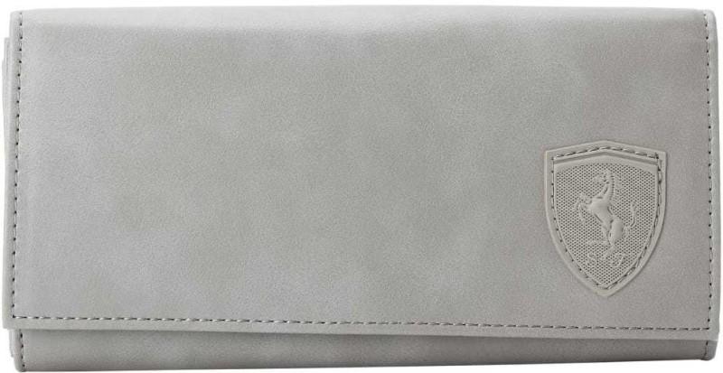 Puma Women Grey Canvas Wallet(1 Card Slot)