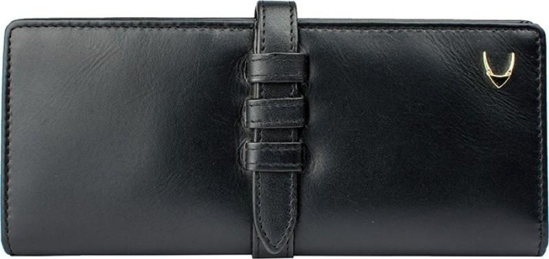Hidesign Women Black Genuine Leather Wallet(13 Card Slots)
