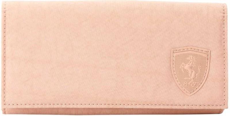 Puma Women Pink Canvas Wallet(1 Card Slot)