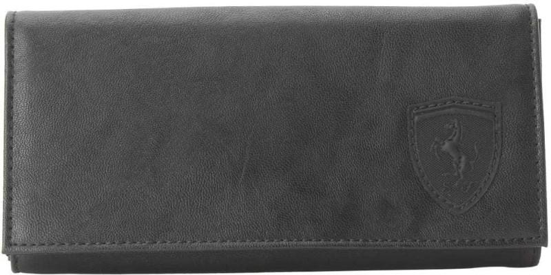 Puma Women Black Canvas Wallet(1 Card Slot)