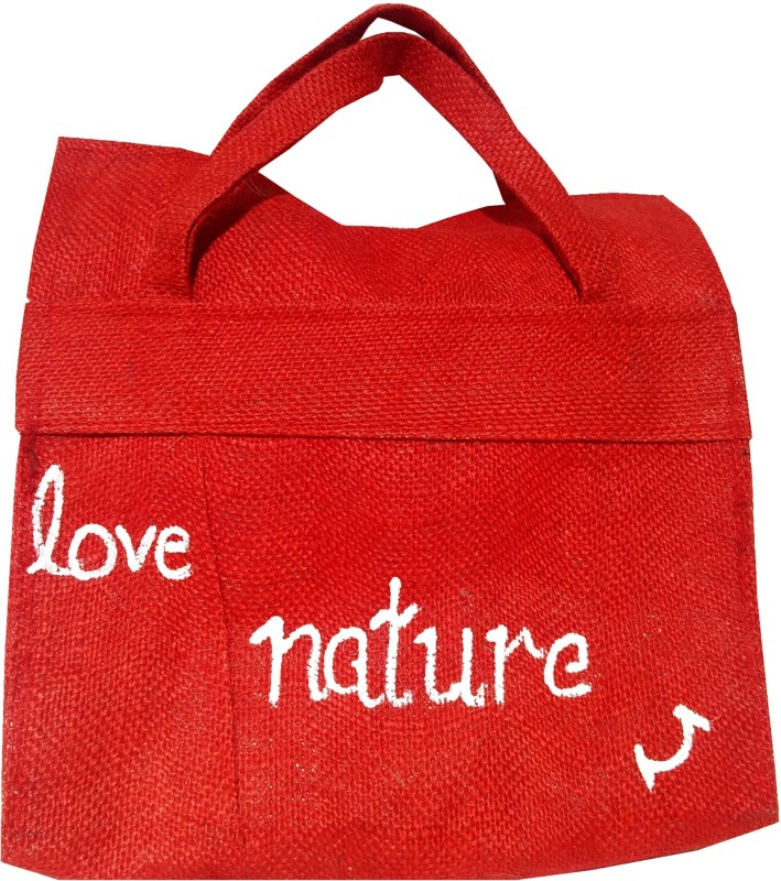 Khadi Eco Basket Sm Multipurpose Bag(Red, White, 11 inch)