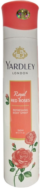 Yardley Royal Red Roses Perfume Body Spray - For Women(150 ml)