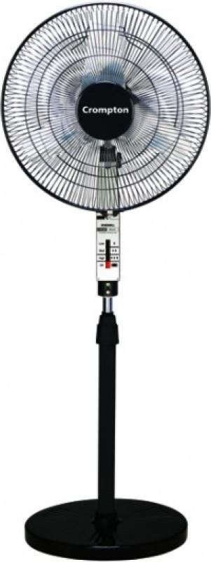 Crompton Wind 3 Blade Pedestal Fan(Black)