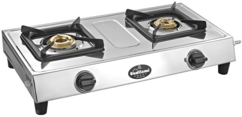 Sun Flame sunflame style 2b ss Stainless Steel Manual Gas Stove(2 Burners)