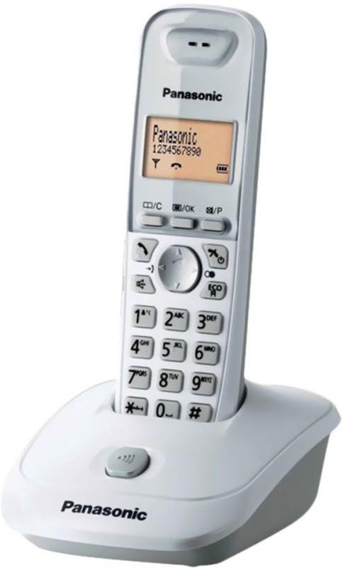 Panasonic KX-TG3611SXS Cordless Landline Phone(White)