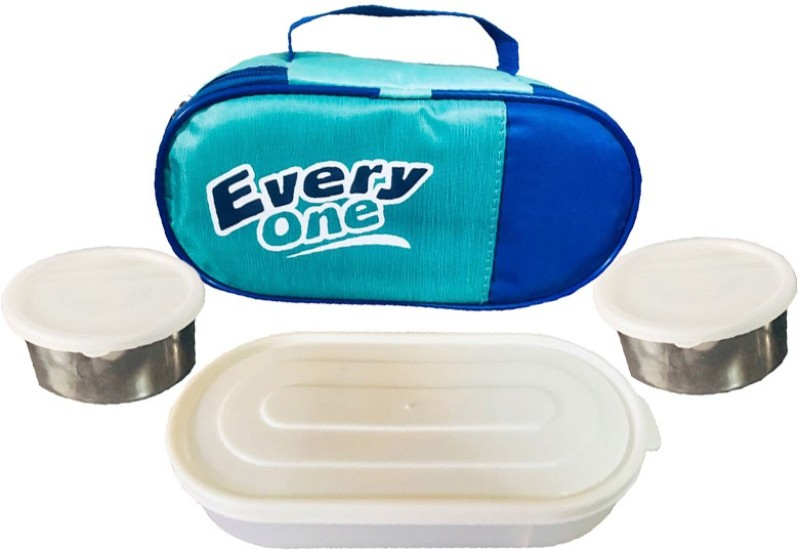 Kuber Industries  Lunch Box 3 Container with Handle Set of 1 Piece 3 Containers Lunch Box(1300 ml)