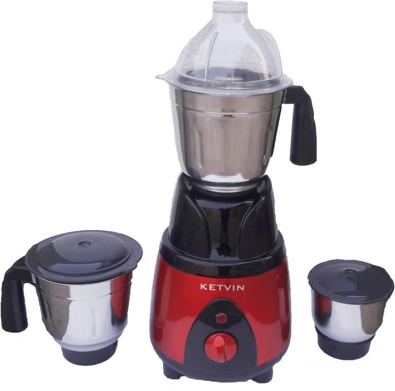 KETVIN 601-M KWID MIXER CUM GRINDER 600 W Mixer Grinder(Red, Black, 3 Jars)