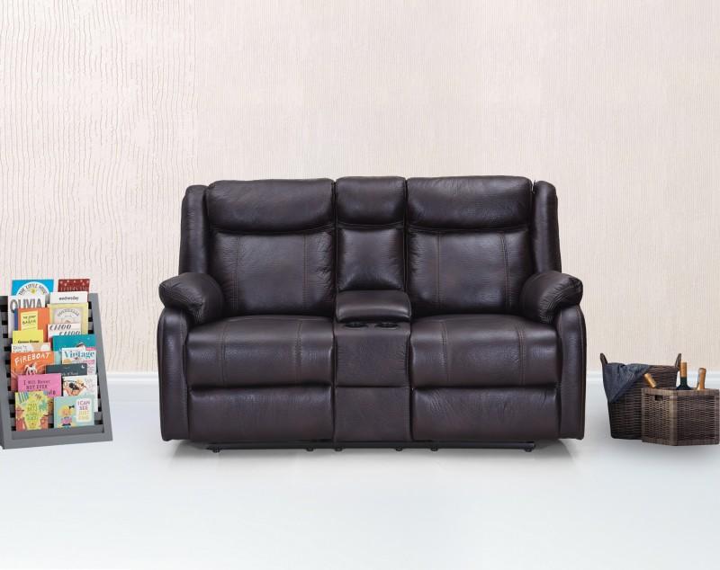 RoyalOak Leather Manual Recliners(Finish Color - Maroon)