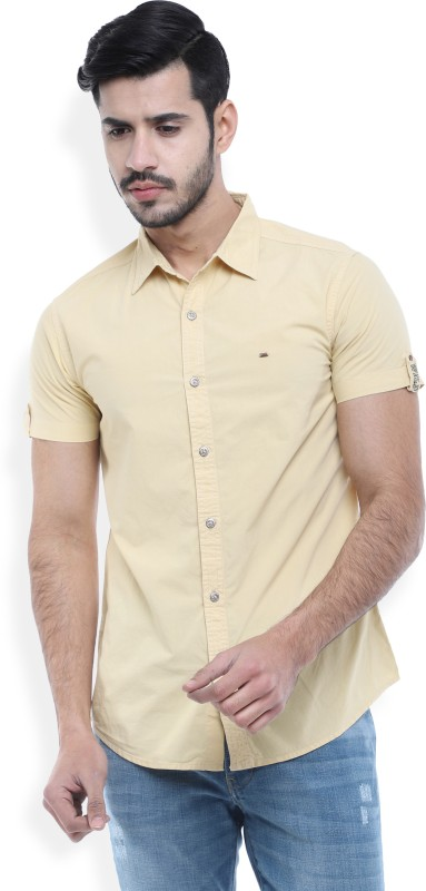 Spykar Mens Solid Casual Shirt