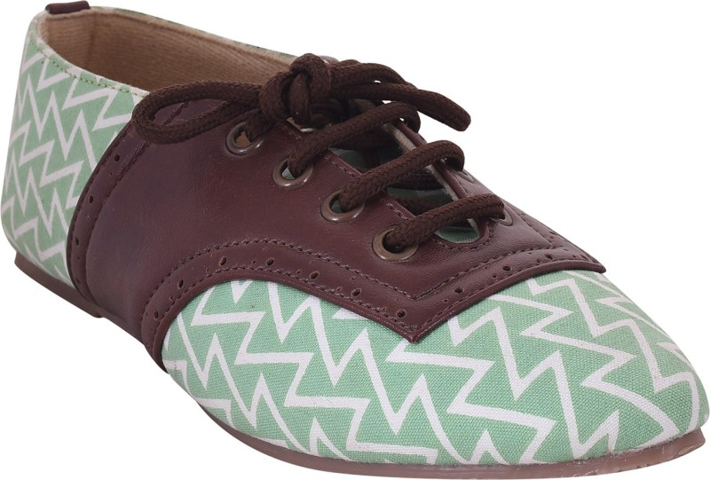 Hepburnette Women's Ladder Brogues Style SKINFIT Material Fabric TPR Sole Bellie Bellies For Women(Brown)