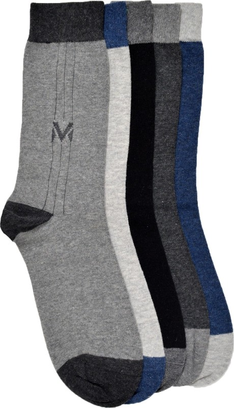 VINENZIA Mens Crew Length Socks(Pack of 5)