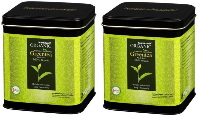 Healthbuddy Organic Premium Darjeeling Green Tea Whole Leaf 2 Packs Of 100 Gms Each Green Tea(200 g, Box)