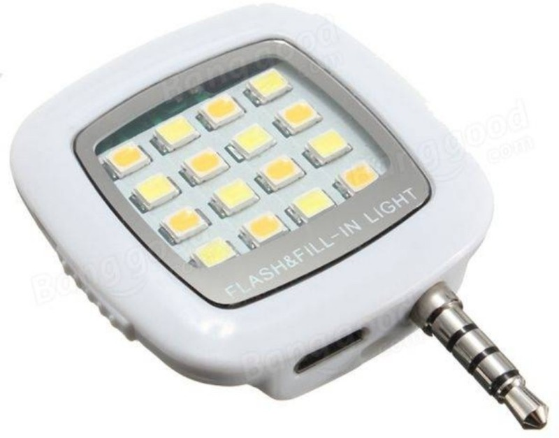MOBONE 16 LED Mobile Selfie Flash For All mobile Compatable Flash(White)
