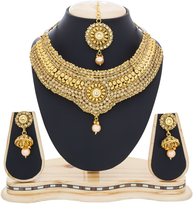 Luxor Zinc Jewel Set(Gold)