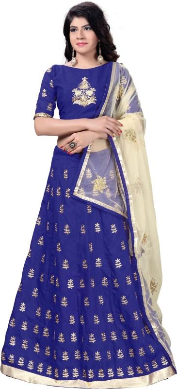 Aika Embroidered Lehenga Choli(Blue)