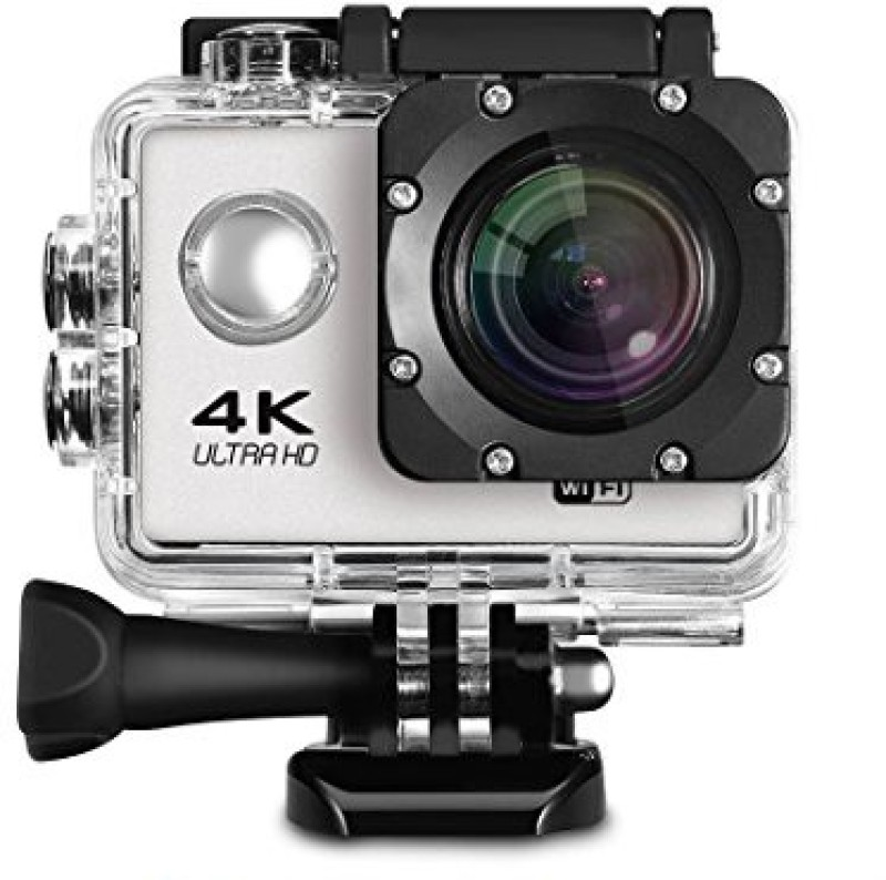 TSV Action Sports Camera 4K Ultra HD 16 MP WiFi Waterproof Digital & Sports Camcorder With Accessories Sports and Action Camera(Silver 16 MP)