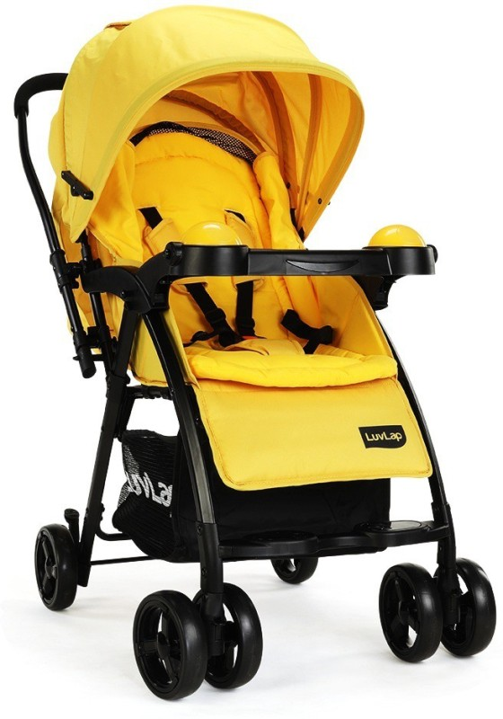 LuvLap Baby Joy Stroller Pram(3, Yellow)