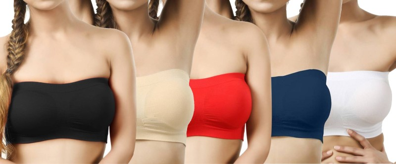 smooth&style Women Tube Non Padded Bra(Multicolor)