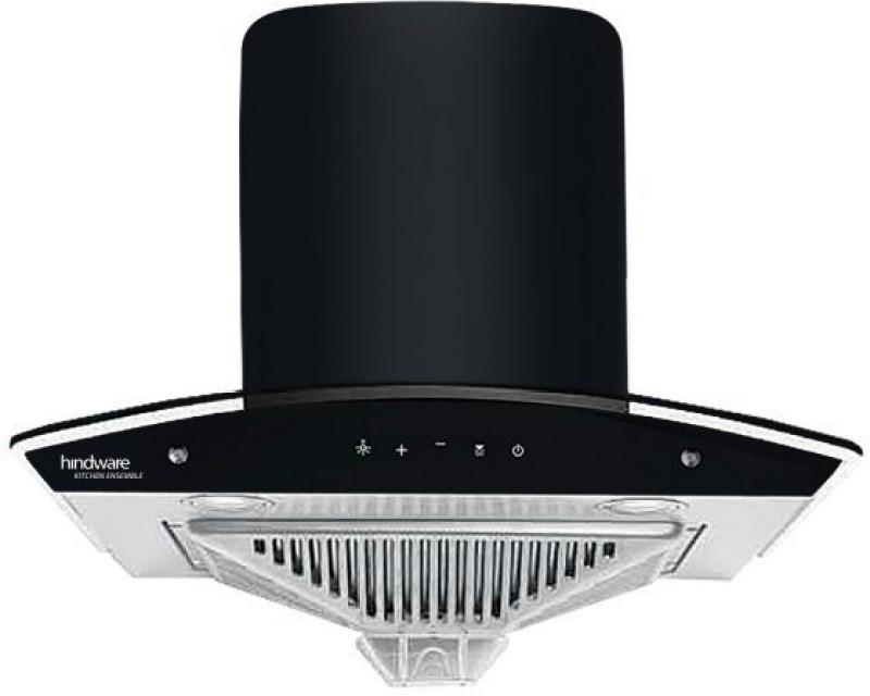 Hindware Zavio 60 Chimney Auto Clean Wall Mounted Chimney(black 1280 CMH)