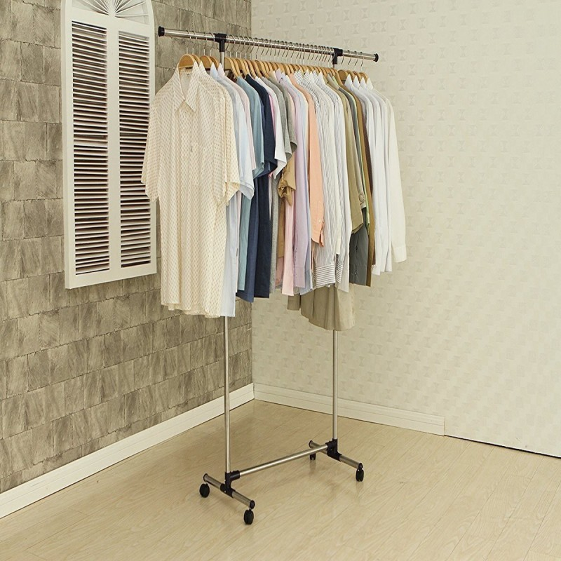 sajan Youlite Single-pole Telescopic movable houseware portable clothes rack / Clothes rack Aluminium Floor Cloth Dryer Stand(Grey)