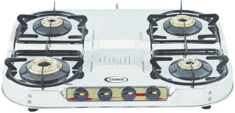 Sunshine SKYTECH Stainless Steel Manual Gas Stove(4 Burners)