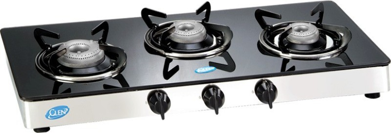 GLEN GLEN 3 Burner Cooktop(Gas Stove) GLEN 1033 FX Glass Manual Gas Stove(3 Burners)