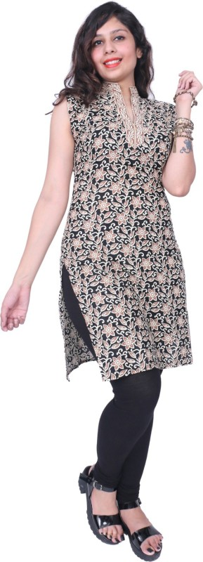 Thari choice Casual Printed Women Kurti(Beige)