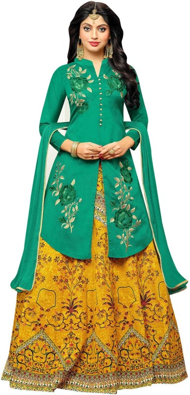Viva N Diva Printed Semi Stitched Lehenga Choli(Multicolor)