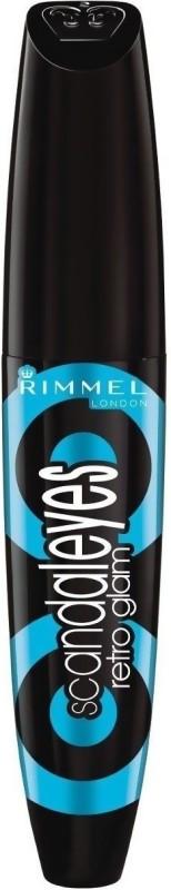 Rimmel London Scandaleyes Retroglam 12 ml(Waterproof Black)