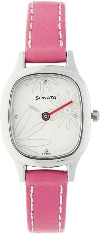 Sonata Fashion Fibre Analog Silver DialWATCH Women's Watch image