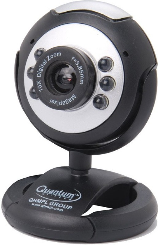 QHMPL QHM495LM Web Camera Interpolated to 25 Mega Pixels Webcam(Black)