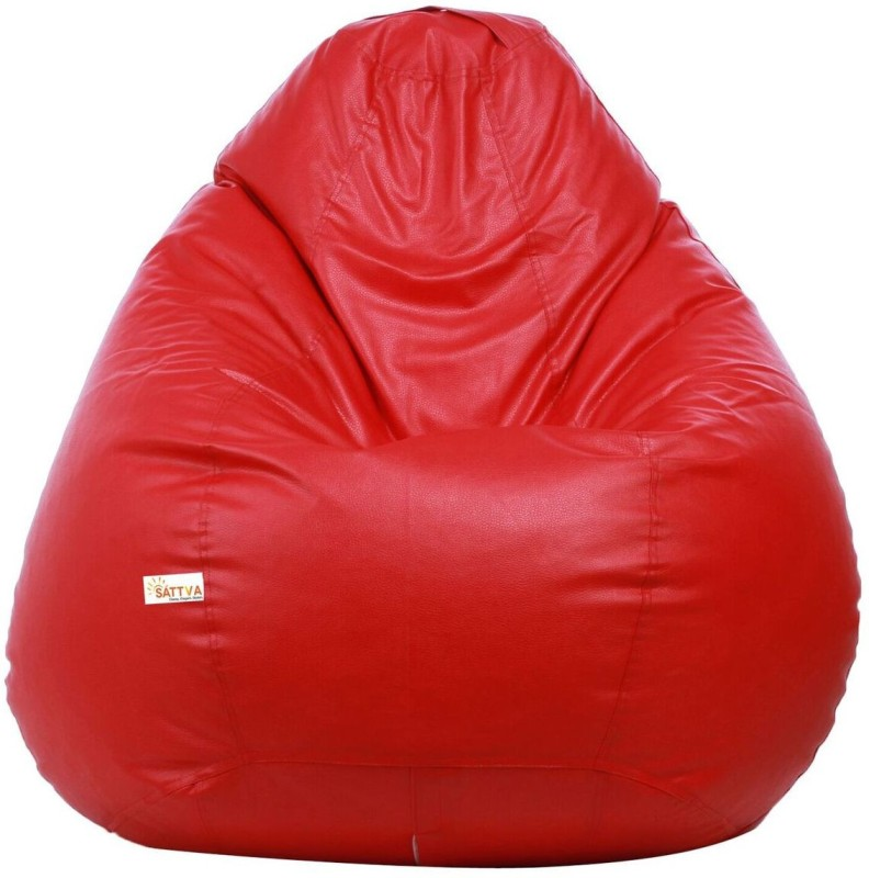 Sattva XXL Bean Bag Cover (Without Beans)(Red)