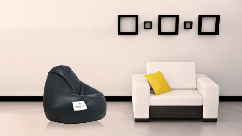 Star XXL Teardrop Bean Bag Cover (Without Beans)(Black)